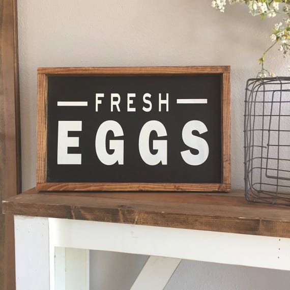 Large Wooden Signs Home Decor: Large Wood Sign Fresh Eggs Farmhouse Sign Chicken Decor