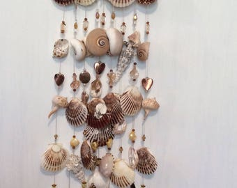 Handmade exotic seashell wind chimes
