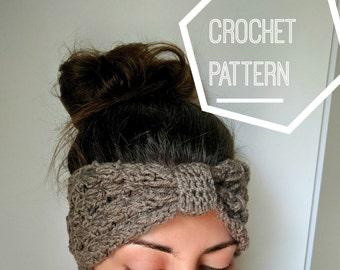 Crochet Ear Warmer Pattern, Crochet Knot Headband Pattern, Boho Crochet Headband Pattern, PDF pattern download only, Crocheted Ear Warmer