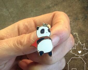 Hero Panda : 14k Gold Plated Lapel Pin