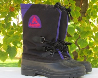 FASHION SALE Size 7 Winter Boots, Snow Boots, Weatherproof Boots, Mukluks, Hiking Boots, Outdoor Boots, Felt Lined Boots, KAMIKS, Made in Ca