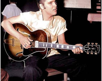 Elvis Presley backstage , 1950's