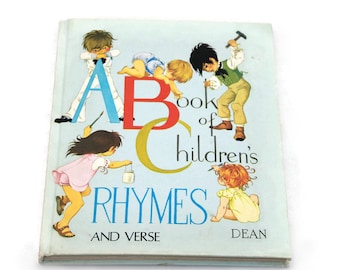 A Book of Children's Rhymes and Verse Vintage Kid's Illustrated Book Graham Johstone Illustrations