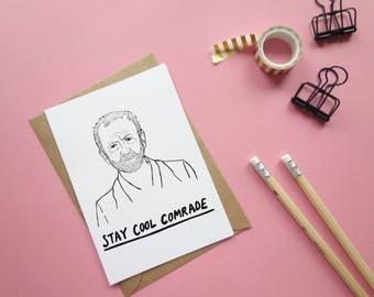 JEREMY CORBYN Greetings Card