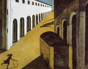 Mystery and Melancholy by Giorgio De Chirico Home Decor Wall Decor Giclee Art Print Poster A4 A3 A2 Large Print FLAT RATE SHIPPING