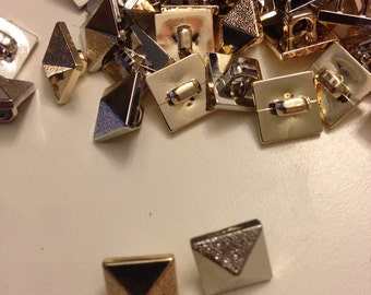 Hexagon shaped Mini Buttons 20 Count