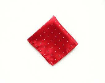 Red polka dot pocket square wedding red silver polka dot pocket square gift for him groomsmen uk