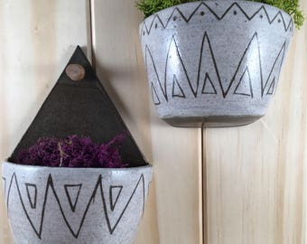 modern ceramic wall planter