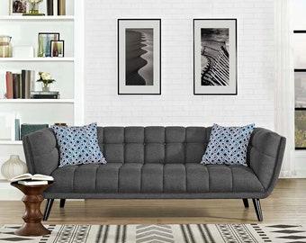 Bestow Sofa : Mid Century modern Couch  Handmade Contemporary comfort furniture piece