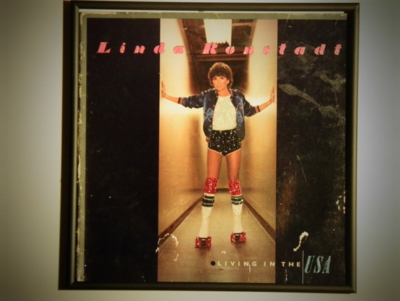 Glittered Record Album - Linda Ronstadt - Living in the USA