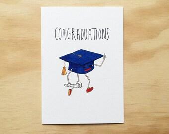 Congraduations   Handmade greeting card   Handmade graduation card  Congratulations   Graduation card