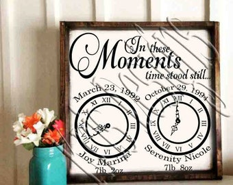 In These Moments Time Stood Still (left blank to edit) 2 svg's jpg and png upon request
