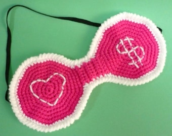 Eye Mask Crochet Pattern PDF Instant Download Sleeping Eye Mask