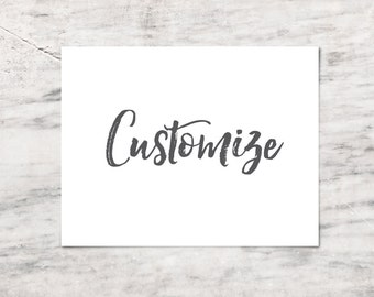 Minor Customization for Purchased Template