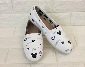 Disney Inspired BELIEVE Shoe. White Disney Toms. Mickey Toms. Believe Toms. Disney Wedding Toms. Disney Wedding Shoes