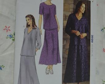 Kwik Sew 3020 Misses Tops and Skirt Sewing Pattern UNCUT Size XS S M L XL