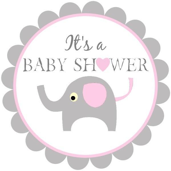 Como Fazer Adesivos De Oncinha ~ Etiquetas de ducha de bebé para imprimir baby elefante