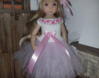 Set for Dianna Effner Little Darling 13 inches doll - blouse, skirt, hat.