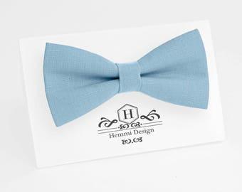 Blue Bow Tie for wedding / linen bow tie for men / bow tie Blue / bow tie for baby / Blue boy's bow tie, Blue necktie, men's bow tie