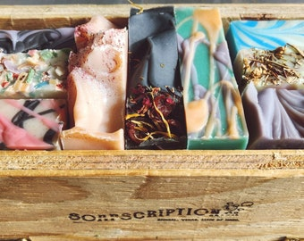 Soap Subscription Box, First Mothers Day Gift, Homemade Soap Gift Box, Cold Process Soap Box, Artisan Soap, Spa Gift Set, Soap Gift Set