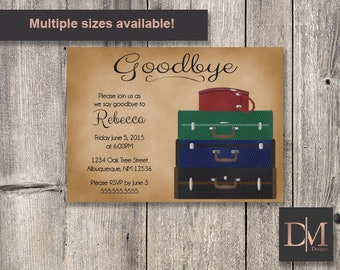 Luggage Going Away Party Invitation (Printable)