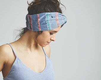 Hair band, turban, headband turban woman, hair accessories, DivintageLab, embroidered cotton, hair bands