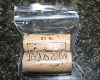 Recycled Wine Cork Magnet Set of 2