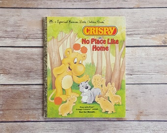 Crispy Critters No Place Like Home 1980s Promotional Kids Book 80s Story About Kids And Parents 80s Nostalgia Cute Forest Crispy Golden Book