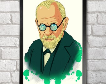 Sigmund Freud print + 3 for 2 offer! size A3+  33 x 48 cm;  13 x 19 in