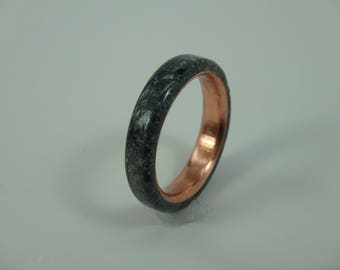 Size 5.25 Soapstone Ring with Copper Insert, Handmade