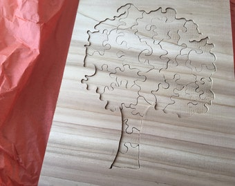 Wooden Tree Jigsaw Puzzle made from Western Cedar