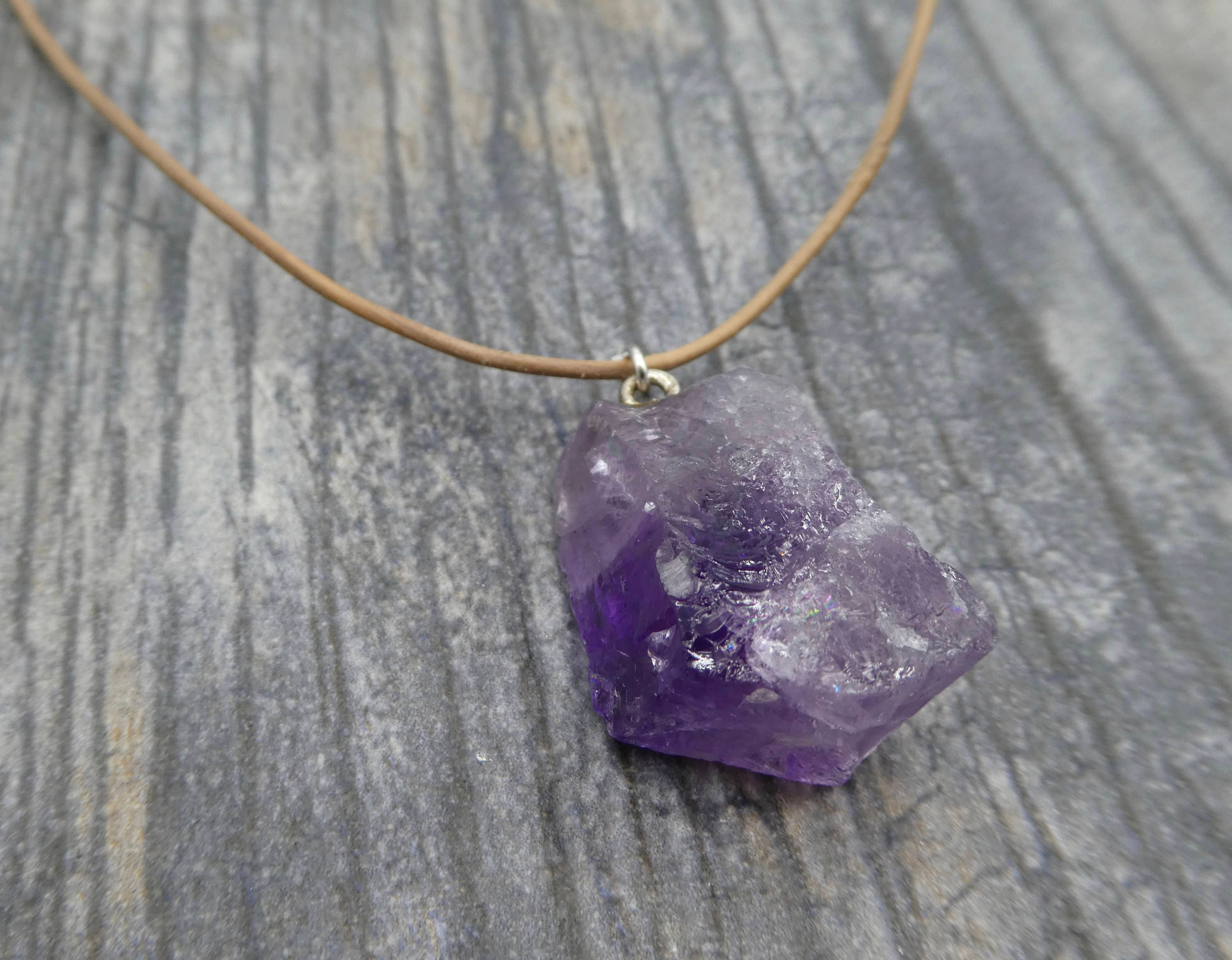 natural supply purple necklace modern aymethist jewelry product stone pendant quartz hello