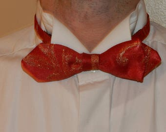 Red bow tie gold Venice NPGM1