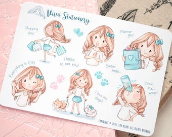 Kawaii Girl Decorative Stickers ~Vera Collection n.2~ For your Planner, Journal, Scrapbook...