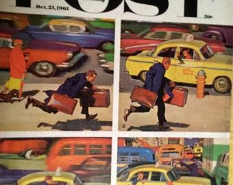 Vintage Saturday Evening Post Magazine, October 21, 1961
