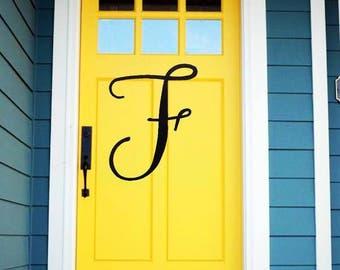 Modern Font Door Initials & Door initials | Etsy