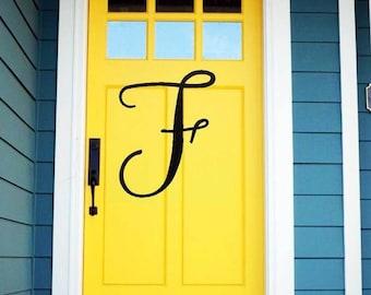Modern Font Door Initials