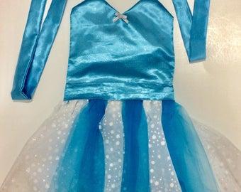 ELSA COSTUME | Elsa Dress | Dress Up Apron | Disney Frozen Inspired | Elsa Birthday | Toddler Elsa Dress | Frozen Birthday Party | Princess