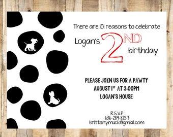101 Dalmatian Invitation, Customized Envelope Template, Envelope Seal, Digital Files