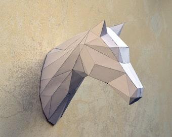 Make Your Own Horse Sculpture. | Horse | Stallion | Animal Sculpture | Horse Papercraft | Wild West | black horse | Zorro