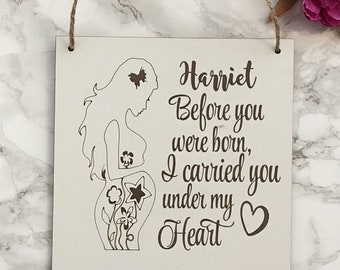 Before you were born.... Plaque