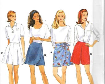 Simplicity 7132 Misses Set Of Skorts Sewing Pattern, Size 4-8, UNCUT