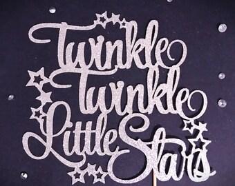 Twins Party, Twinkle Twinkle Little Stars Cake Topper, Little Star Birthday Cake Topper, Baby Shower Topper, Star Cake Topper, 1st Birthday