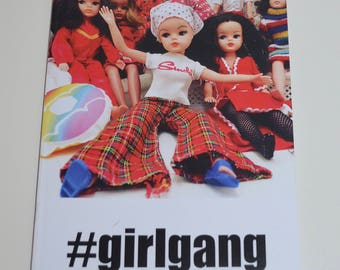 A5 Notebook Girl Gang #girlgang with vintage Sindy dolls image. Blank pages