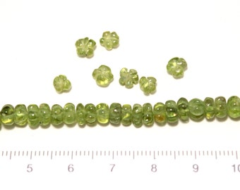 peridot flower shape beads 9cm/G-0058