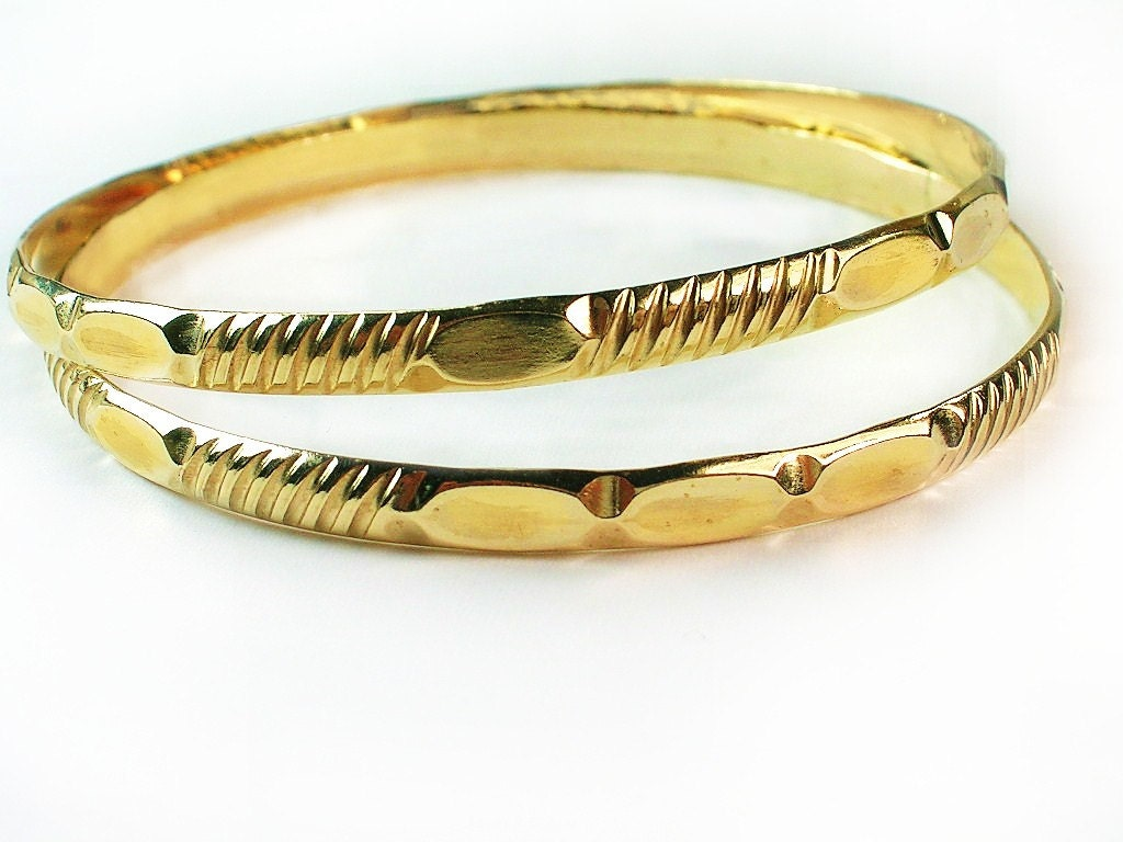 Babies Gold Bangles /Bogo buy one get two baby bangles/