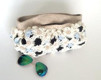Daisy Crochetting Flower Bag, Summer Handy Bag, Boho Bag, Handmade