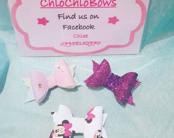 Set of 3 mini clips (1.5inches)