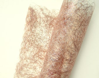 Sparkling Craft Paper - Shiny Textured Paper for Arts and Crafts -  Pink Champagne