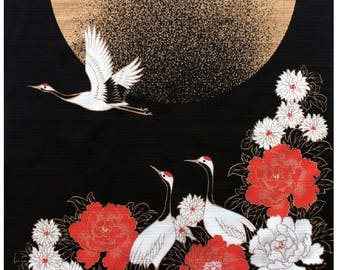 Crane Bird Japanese Furoshiki Wrapping Cloth  Small  Price depends on order volume.